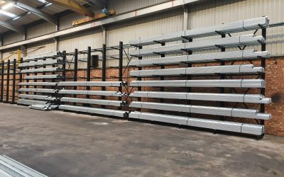 New cantilever racking installation