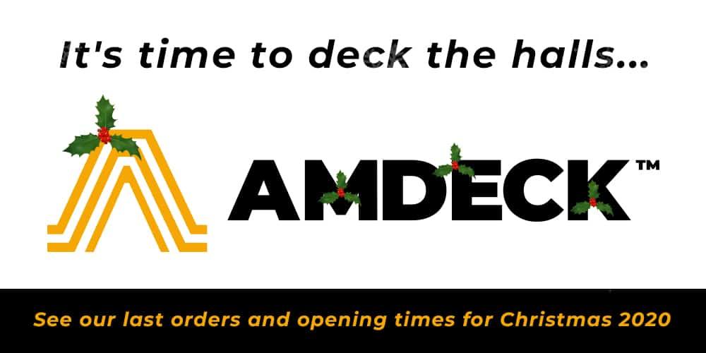 AMDECK opening hours Christmas 2020